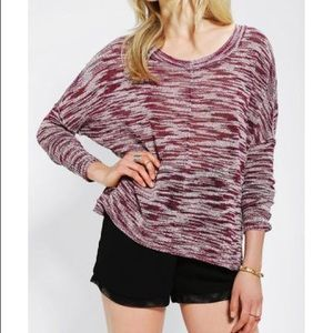 UO SILENCE + NOISE // Marled Dolman Sleeved Top